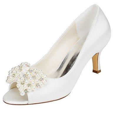 Zormey Women'S Hochzeit Schuhe Fr¨¹hling Sommer Club Schuhe Stretch Satin Hochzeit Party & Amp Abends Stiletto Heel Crystal Pearl US5 / EU35 / UK3 / CN34