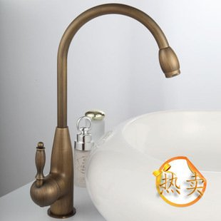 Tougmoo Toilettes pour robinets antique Lavabo Robinet Toilettes robinet en cuivre vintage, 30x 10