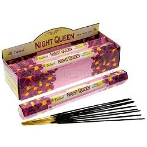 Set de 6 paquetes de 20 Varitas De Incienso Aroma Night Queen (Reina De La Noche)