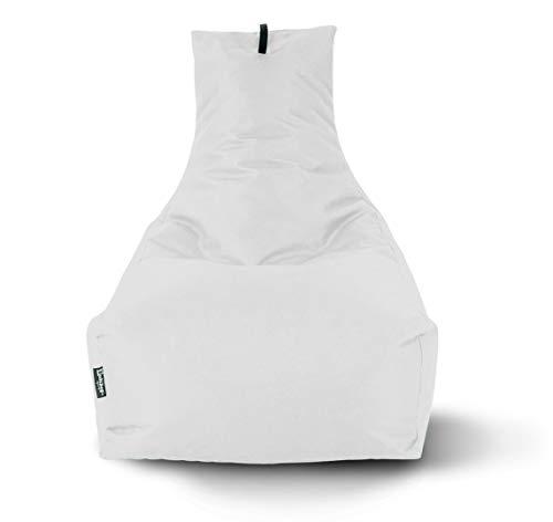 BuBiBag Sitzsack Lounge Sitzsack Sitzkissen XXL Tobekissen Bodenkissen Beanbag Kissen, für Kinder und Erwachsene (Weiß)