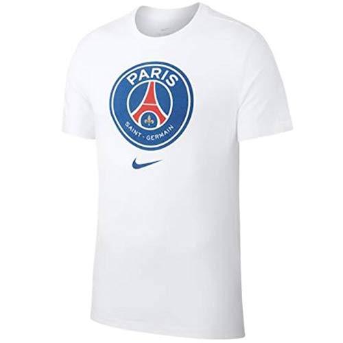 91f930a009 Nike Men's PSG M NK TEE EVERGREEN CREST T-Shirt, White, ...