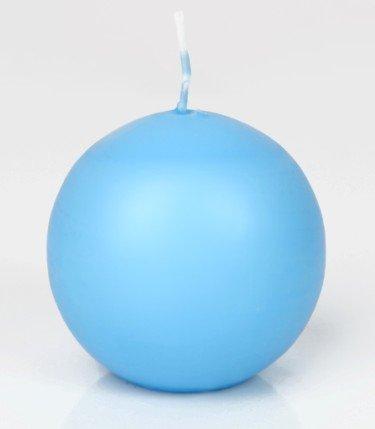 Kugelkerzen 6 Eisblau Hellblau 8 cm, Kerzen rund, deutsche Markenkerzen in RAL Kerzenqualität