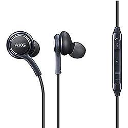 Samsung/AKG EO-IG955BSEGWW Écouteurs Mains Libres Officiels pour Samsung Galaxy S8/S8 calibrés par AKG/Harman Kardon, Anti-Noeuds, Noir