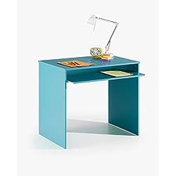 Escritorio o mesa para PC azul extensible para habitación infantil o juvenil, 79x90x60cm