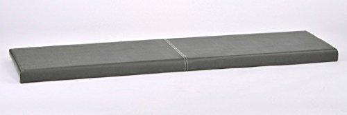 XXL Klemm-Kissen Sitz-Kissen für Sitz-Bank Kunstleder Breite 150cm viele Farben, Farbe:grau