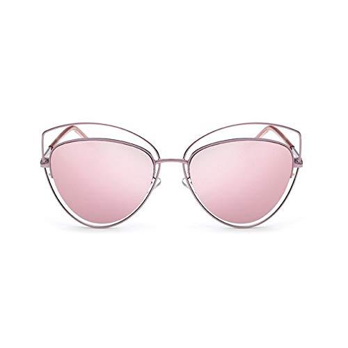 MoHHoM Sonnenbrille Übergroße Spiegel Rosa Sonnenbrille Cat Eye Vintage Sonnenbrille Frauen Weibliche Schattierungen Lady Sonnenbrille Großhandel Rosa