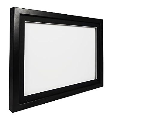 Vivarti TrueBox 3D Shadow Display Picture Frame A4 21 x 29.7cm- Black Frame, Black Mount, White Backing Card