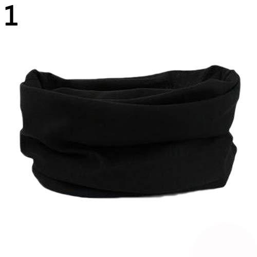 strimusimak Hohe elastische Radfahren Nahtlose Hals Schal Fahrrad Sport Stirnband Männer Geschenk im Freien Black (Mime Kostüm Leicht)