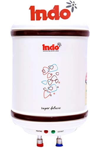 Indo Delux Storage Water Heater, 10 L, Ivory