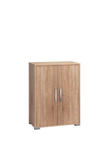 MAJA-Möbel 1226 5525 Aktenregal mit Türen, Sonoma-Eiche-Nachbildung, Abmessungen BxHxT: 80 x 109,7 x 40 cm
