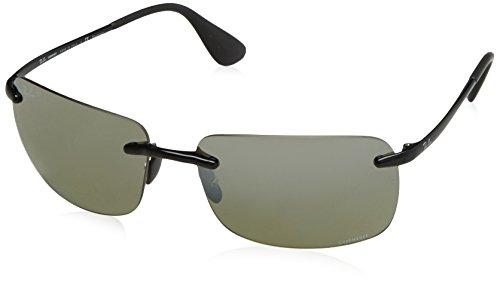 Ray-Ban Polarized Square Men's Sunglasses - (0RB4255601/5J60|60|Grey Mirror Silver Polar Color)