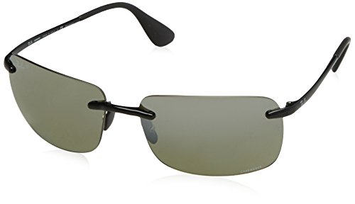 Rayban Herren Sonnenbrille 4255 Shiny Black/Greymirrorsilver 60