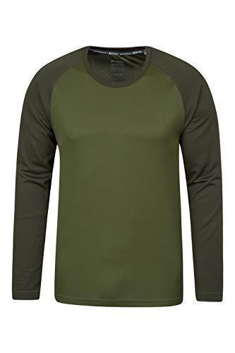 Mountain Warehouse T-Shirt d'endurance à Manches Longues pour Homme - Séchage Rapide, Protection UPF 30 - pour Printemps, randonnée, Voyage, Camping K