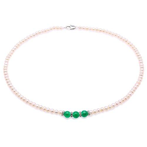 Pearl Choker - jyx perlenkette weiß Zarte 4,5 mm