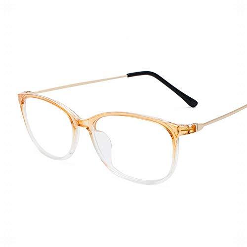 WULE-RYP Polarisierte Sonnenbrille mit UV-Schutz Retro Full Frame Brillen Platz Brillen Brillen Clear Brillenglas Brillenglas. Superleichtes Rahmen-Fischen, das Golf fährt (Farbe : Gelb)