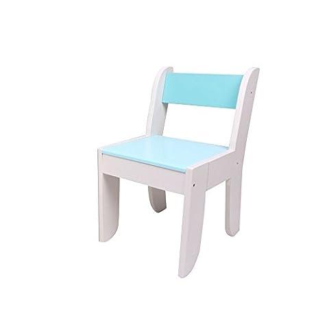 Chaise Labebe pour enfants - Couleur bleu clair pour les enfants de 1 à 5 ans, bois massif, utilisation pour la peinture / lecture / Groupe de jeu en salle de classe et à domicile, paire avec un ensemble de table de hibou d