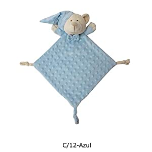 Duffi Baby- Dou Osito Topitos, 24 x 24 cm, Color Azul (Master Baby Home, S.L. 4099-12)