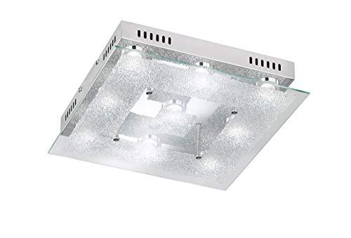 LED-Deckenleuchte Chrom