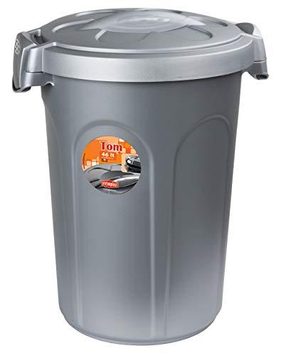 Contenedor de comida Tom, 16kg, 46 l, 44,5 x 40 x 61cm, gris