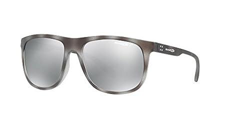 Arnette AN4235 2462/Z3 - Crooked Grind, Matte Grey Havana/Grey Mirror Polarized, 56mm, Sunglasses