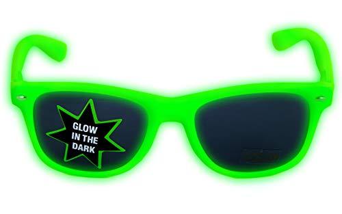 NERD Glow Brillen LEUCHTEN BEI NACHTS versch. Farben (Rosa klarglas B8-3)