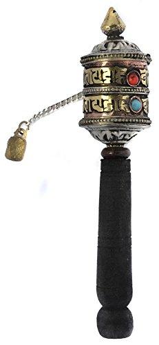 BUDDHAFIGUREN/Billy Held Hand Gebetsmühle, Tibet, Kupfer 12 cm lang - Gebetsmühle Tibetische