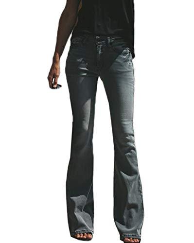 Dettagli su Jeans Donna LEE ORIGINALE FELTON a Zampa Svasato Scampanato strech vita bassa