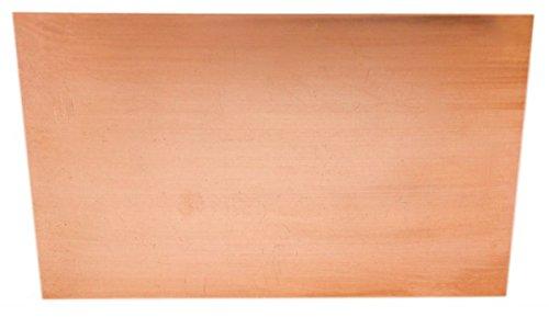 Kupfer-Anode/Elektrode/Blech (15 x 10 cm) für Kupferelektrolyt/Galvanik -