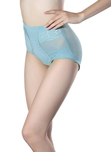 Smile YKK Remonte Fesse Culotte Femme Lingerie Sculpant Push Up Minceur Vert