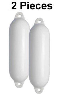 Bootskiste 2 Stück Majoni Fender mit Rückschlagventil 12 * 45 in weiß