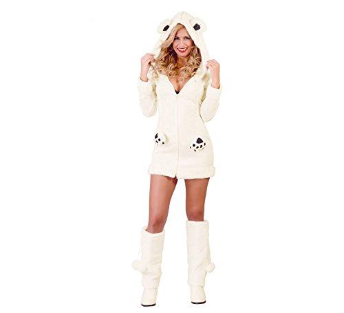 Eisbär Kostüm Gr. S Kleid Osita Plüsch weiß Tierkostüm Eisbärenkostüm Fasching