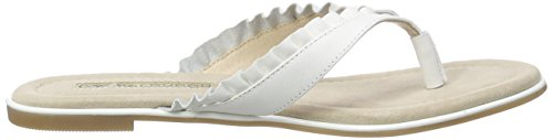 Buffalo 15bu0222 Kid Leather, Tongs femme Blanc - Blanc