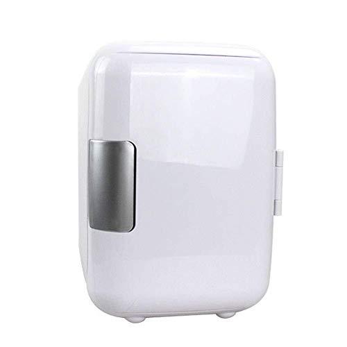 ZHENYUE Tragbare ini Frige Gefrierschrank Kühlbox Ein Warer 6 Dosen Quiet ini Kühlschrank Copact Energy Star Auto oder Roo Büro-Wite 4L ZHENYUE (Color : White, Size : 4L)