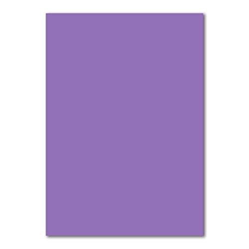 50x DIN A4 Papier Planobogen -Violett - 240 g/m² - 21 x 29,7 cm - Bastelbogen Ton-Papier Fotokarton Bastel-Papier Ton-Karton - FarbenFroh®