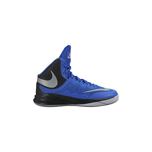 Nike Basketball-schuhe Jungen Größe 2 (Nike Prime Hype DF Ii (GS), Jungen Basketball Turnschuhe, Mehrfarbig - Blau/Silber/Schwarz (GM RYL/Rflct-Blk-SLVR WLF Gry) - Größe: EU 36 (US 4Y))