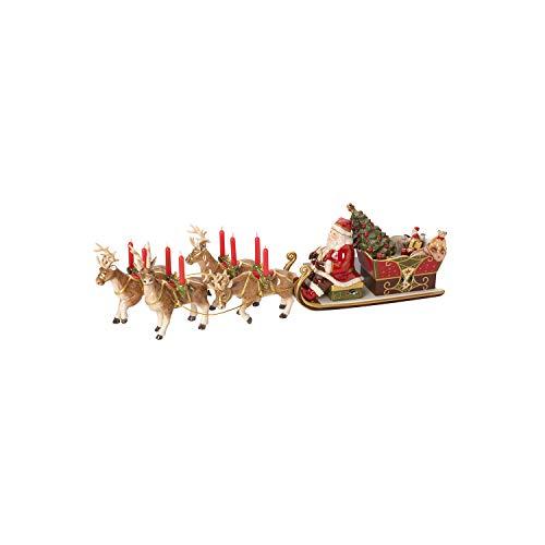 "Villeroy & Boch Christmas Toys Memory Spieluhr ""Santas Schlittenfahrt"", Porzellan, Bunt"