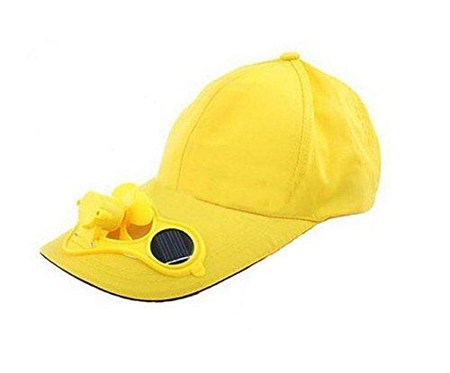 linyena Hut Reise-Camping Baseball Fan luftgekühlt Solar (gelb)