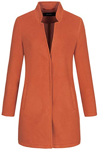 Vero Moda Vmbrushedkatrine 3/4 Jacket Boos Abrigo de Mezcla de Lana, Rojo, XS para Mujer