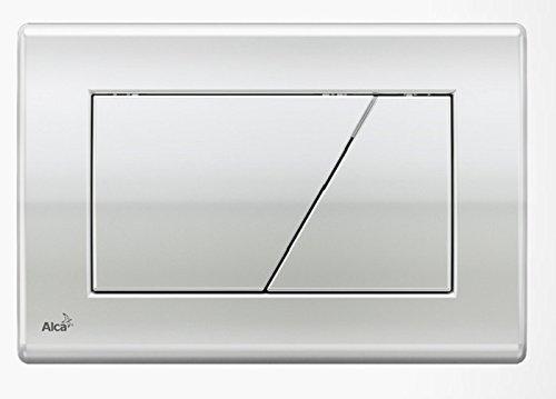 WC Vorwandelement für Trockenbau 100 cm inklusive Betätigungsplatte Chrom Glänzend Typ Trapez Unterputzspülkasten Spülkasten Wand WC hängend Schallschutz