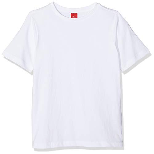 s.Oliver Junior Jungen 74.899.32.0521 T-Shirt, Weiß (White 0100), 116