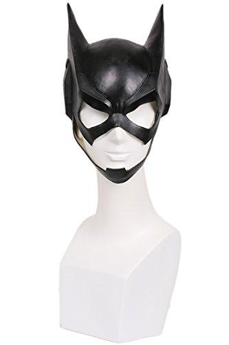 Halloween Maske Cosplay Kostüm Latex Helm Schwarz voll Kopf Maske für Damen Verrückte Kleid Merchandise Replik Zubehör (Catwoman Maske Halloween)