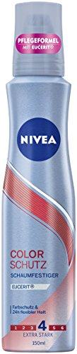 NIVEA 3er Pack Schaumfestiger, Extra Stark, 3 x 150 ml Dose, Color Schutz