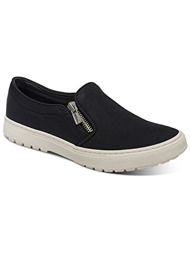 Damen Slip On Roxy Juno Zip Slippers Frauen Black