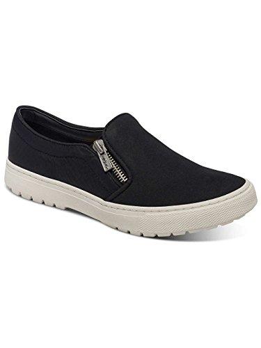 Roxy Juno - Chaussures slip-On zippées pour femme ARJS300256 Noir - Black