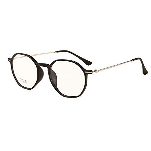 Junkai Männer Frauen Polygon Brillen - TR90 Ultra-Licht Rahmen Anti Blau Licht Clear Lens Gläser Rahmen für Computer/PC Spiel/TV/Handy Lesen Brillen - ka19021814