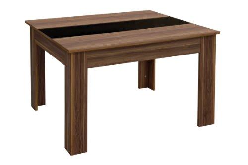 Premier Housewares Fargo Dining Table - 78 x 120 x 80 cm, Walnut Veneer