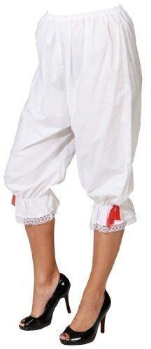 Bristol Novelty BA872 Pantalons, unisex-adult, weiß, (Renaissance Damen Zigeuner Kostüm)