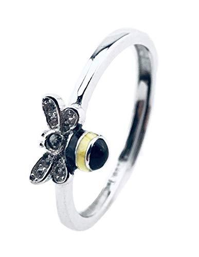 Louis Aury Frauen Bienen Ring   925 Silber   Größenverstellbar   Für Sie   Natur Tier Liebe   Schenken Valentinstag Weihnachten Geburtstag Jahrestag Hochzeitstag   inkl. Geschenk/Schmuck-Box