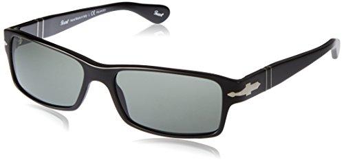 Persol Unisex PO2747S Sonnenbrille, Gestell: schwarz, Gläser: grün-klar polarisiert 95/48, Large (Herstellergröße: 57)