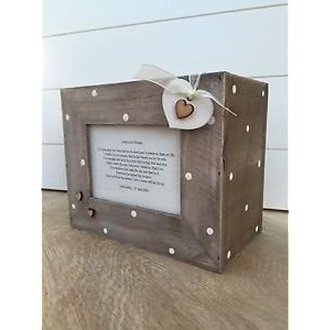 Shabby Chic Madre de el novio personalizable álbum de fotos caja regalo de bodas.